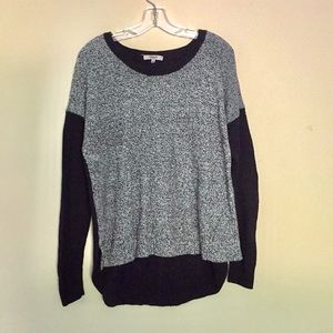 Madewell   Cozy Gray and Black Sweater